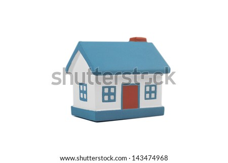 A model house isolated on a white background - stock photo