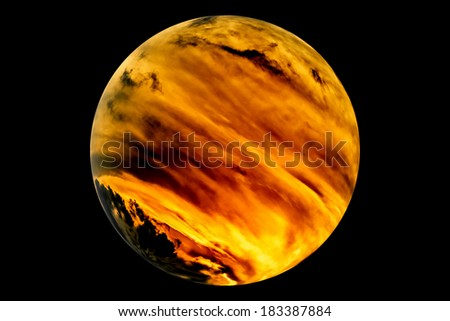 A model of a theoretical earth like planet with active weather system - stock photo