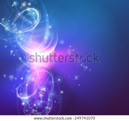 A modern abstract light swirl background with electric vortex shapes - stock photo
