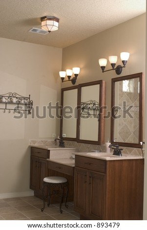 a modern bathroom - stock photo