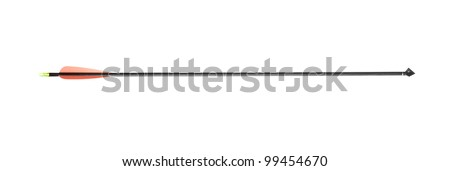 A modern hunting arrow isolated on white background - stock photo