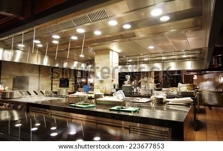 Superbe A Modern Kitchen In A Hotel Or Restaurant
