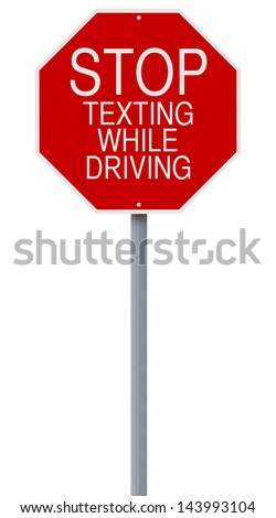 A modified stop sign on road safety  - stock photo