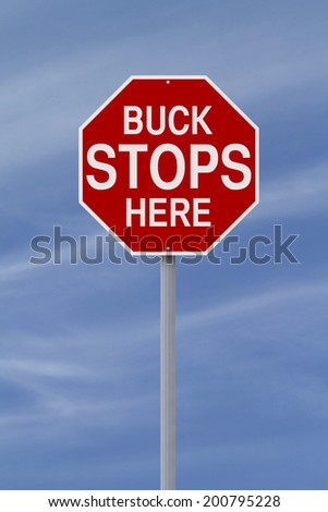A modified stop sign with an idiomatic expression