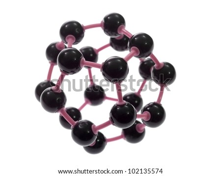 A molecule structure isolated against a white background - stock photo