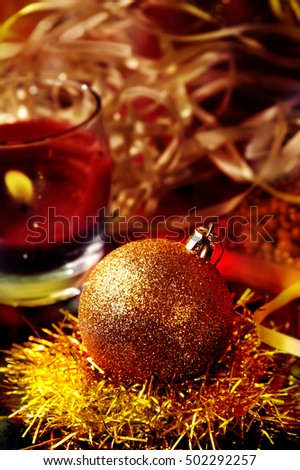 A moment of Christmas Eve or New Year`s Eve where people decorate their Christmas tree and home and wrapping Christmas gifts a peaceful moment of joy and celebration