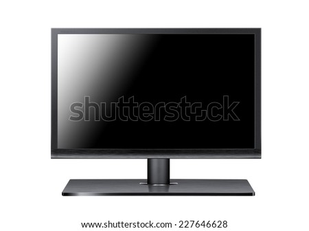A monitor on white background