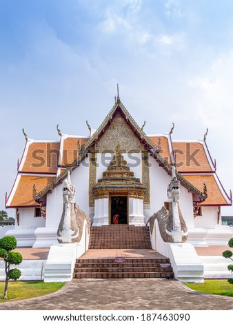 a monk the in temple - stock photo