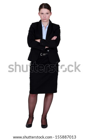 A moody businesswoman