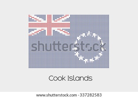 A Mosaic Flag Illustration of the country of Cook Islands