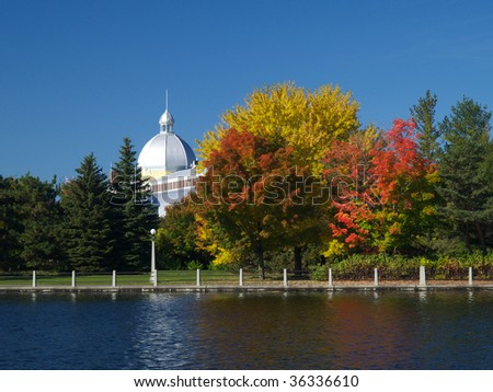 A mosque beside Rideau canal - stock photo