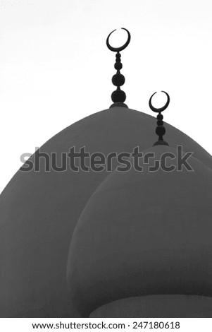 A mosque in Dubai. - stock photo