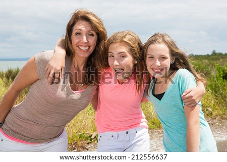 A mother and her two daughters