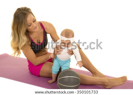 A mother wanting to start her daughter young on fitness.