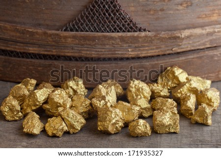 a mound of gold close-up