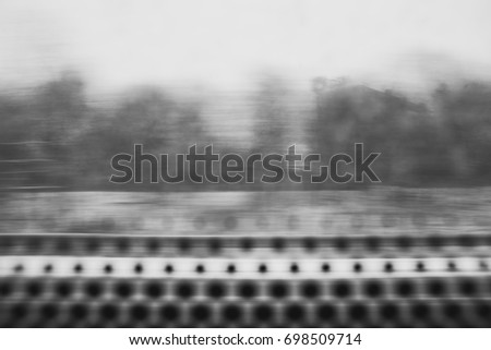 A moving view from high-speed train