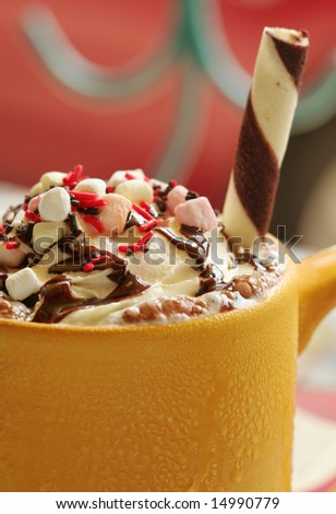A mug of Iced Cold Coffee - stock photo