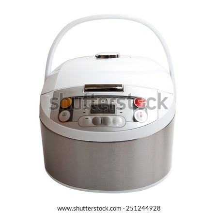 a Multi Cooker isolated on white background - stock photo