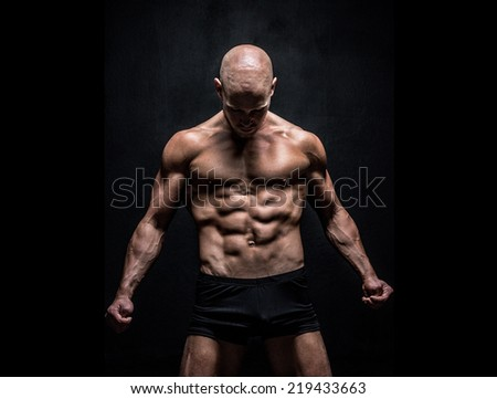 a muscular athletic male