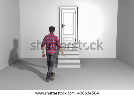 A mysterious door(3d rendering)