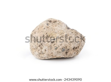 A natural piece of pumice stone isolated on white background.