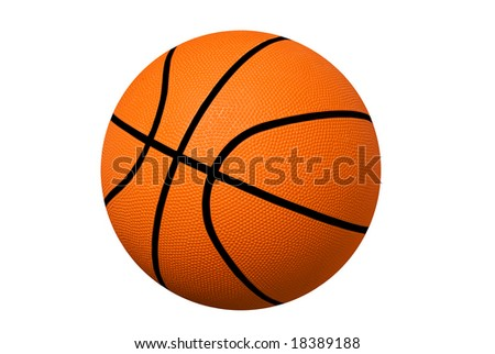 A new basketball isolated on white.