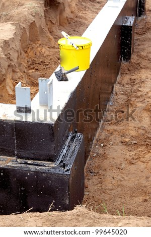 A new foundation, building site - stock photo
