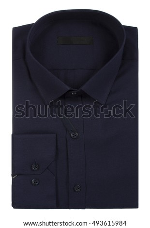 A new man's shirt isolated over a white background