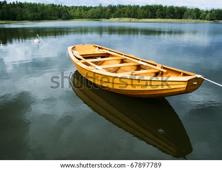 A New Rowboat Built By Wood Rowing Boat