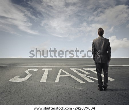 A new start  - stock photo