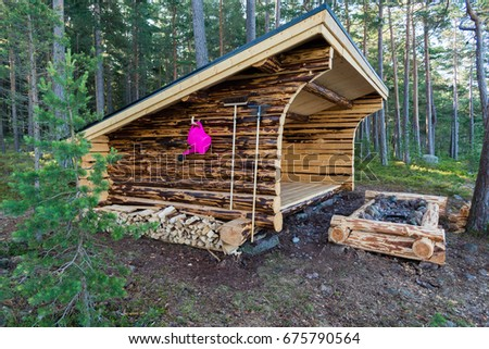 Log Cabin Forest Fall Stock Photo 342119846 Shutterstock
