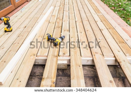Deck stock images royalty free images vectors for Timber decking seconds