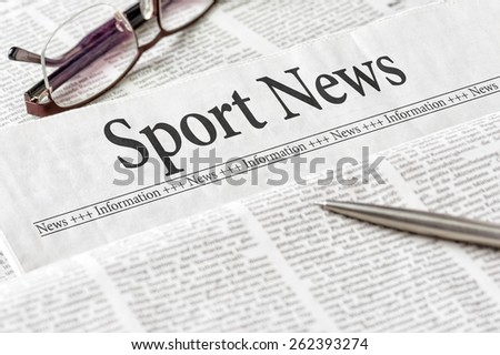 A newspaper with the headline Sport News - stock photo