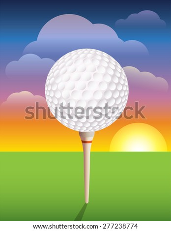 A nice design background for a golf tournament invitation, flyer, brochure, or various other golf designs. - stock photo