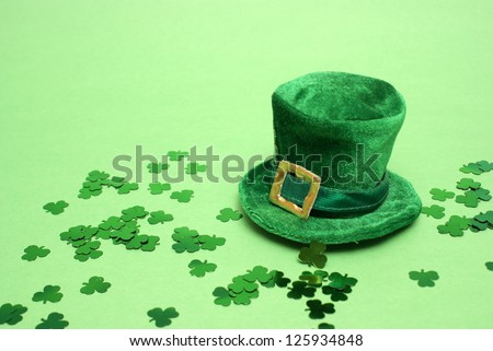 A nice St Patricks day lucky hat for everyone to celebrate. - stock photo