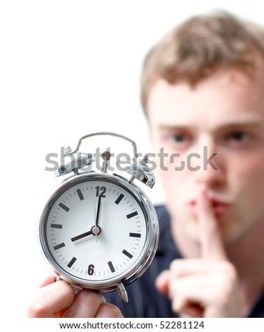A noisy alarm clock - stock photo