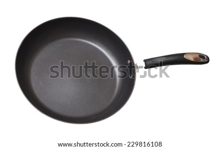 a nonstick frying pan isolated on white background