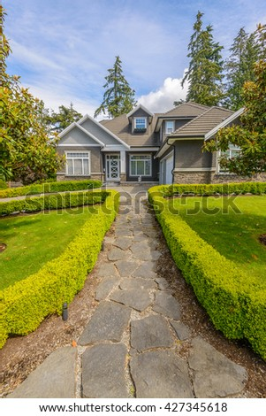 A North American Home in the suburbs. - stock photo