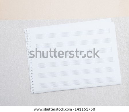 a note paper for musical notes