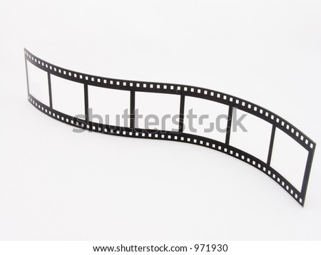 A novelty photoframe in the shape of a film strip - stock photo