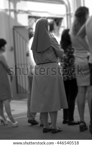 a nun best moment in a ceremony