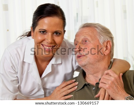 a nurse in elderly care for the elderly in nursing homes