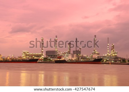 A oil refinery factory in Thailand - stock photo