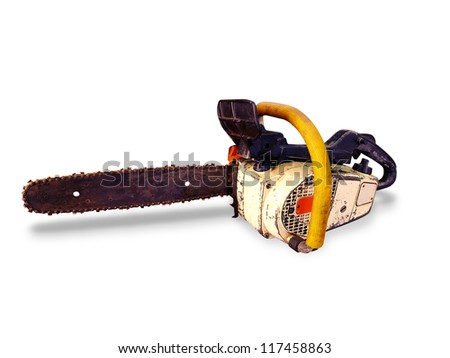 A old chainsaw