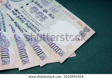 A one hundred rupee note (Indian Currency)