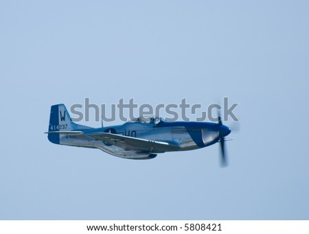 A P-51 Mustang fighter plane - stock photo
