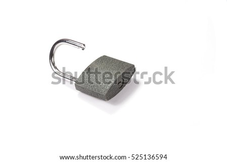 A padlock on a white background