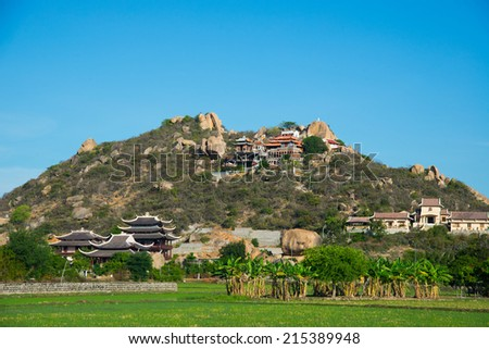 A pagoda on mountain in Phan Rang, Ninh Thuan province