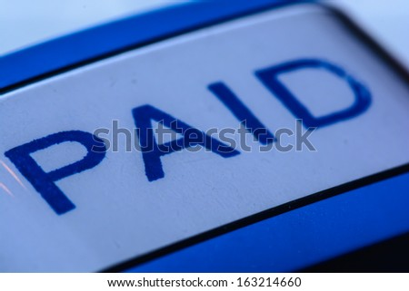 A paid stamp for a proove of payment that makes the accounting process more easy
