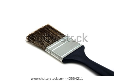 A paint brush isolated on a white background.